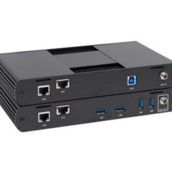 Backward compatible with previous USB versions. Multiple version can be running simultaneously USB 3.1 extension up to 100m over Cat6A /7 4 Port USB hub on client end